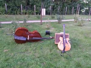 Jazztrio mit Gitarre und Kontrabass