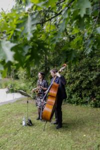 Jazzduo in Berlin bei einer Veranstaltung der FU