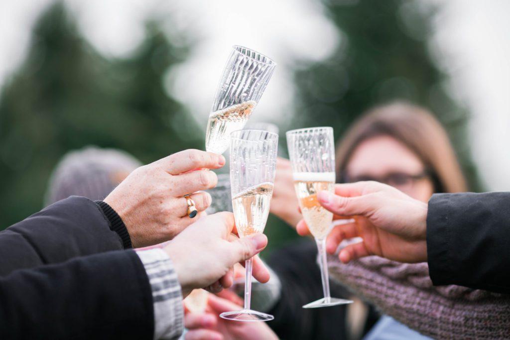 Jazzband Berlin: Sektempfang bei einer Hochzeit