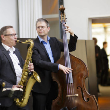 Jazzduo bei einem Networking Event in Berlin