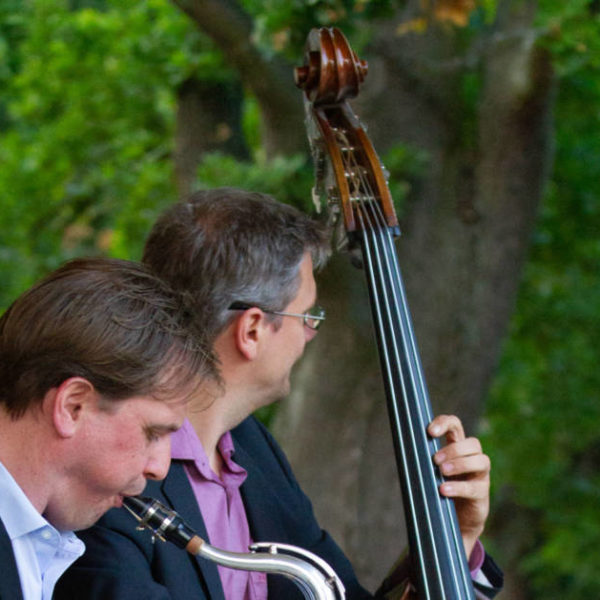 Jazzduo bei einer Firmenfeier in Berlin