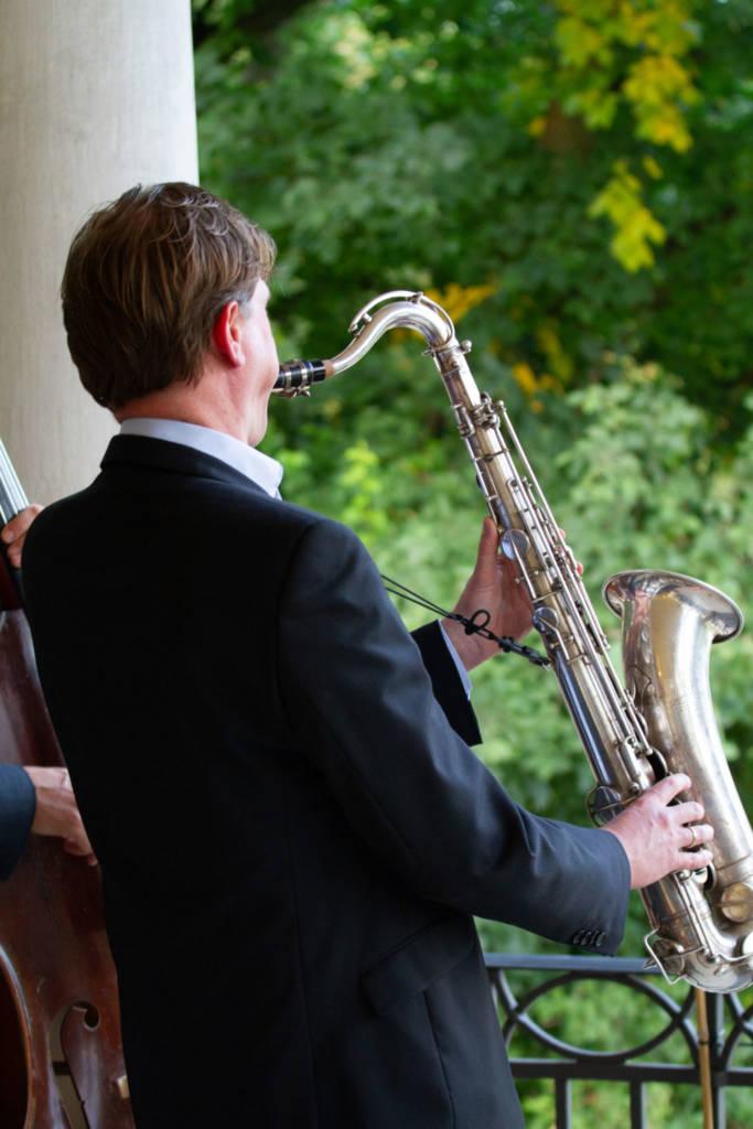 Jazzduo bei einem Event in Kladow