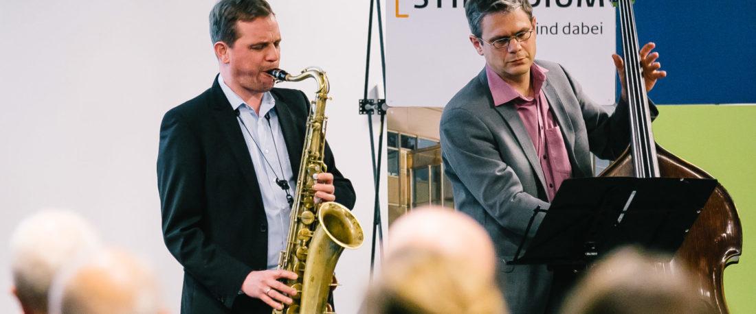 Jazz im Duo bei einer Feier in Dahlem