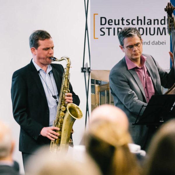 Jazzduo bei einem Festakt in Berlin