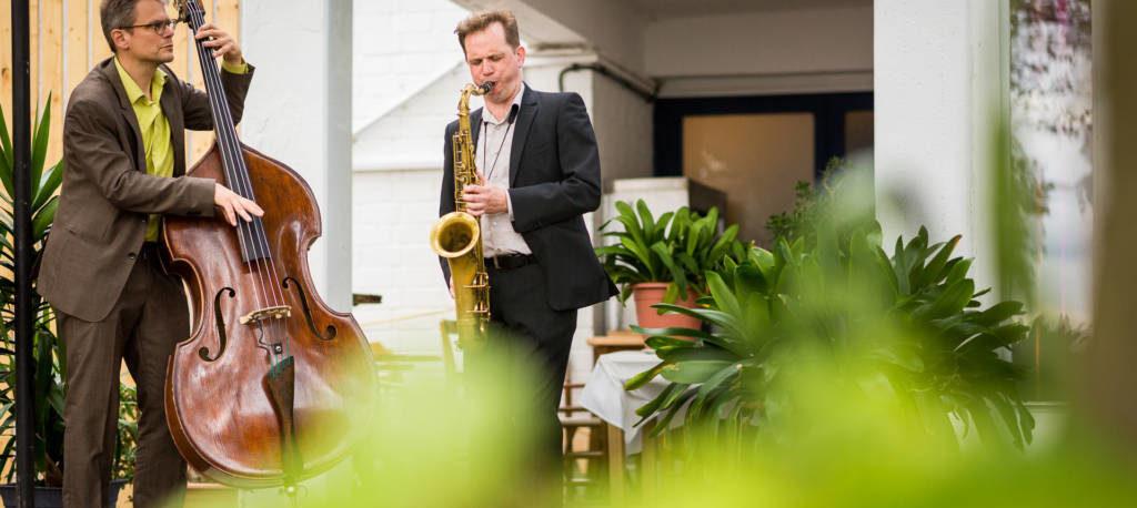 Jazzduo bei einer Hochzeit  am Wannsee