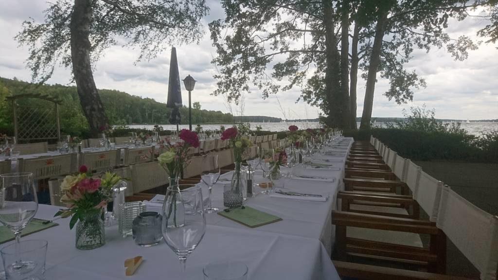 Jazzduo bei einer Hochzeit auf Lindwerder
