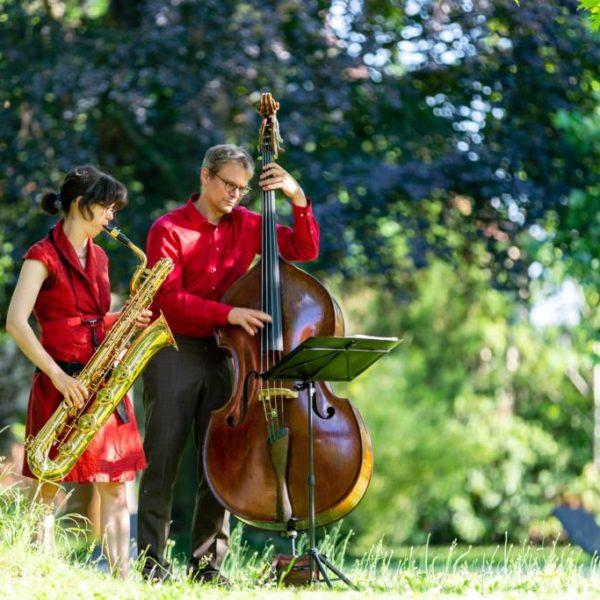 Jazzduo bei einem Empfang in Berlin