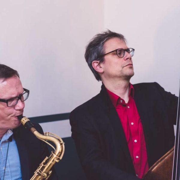 Jazz Duo bei einem Event in Wilmersdorf