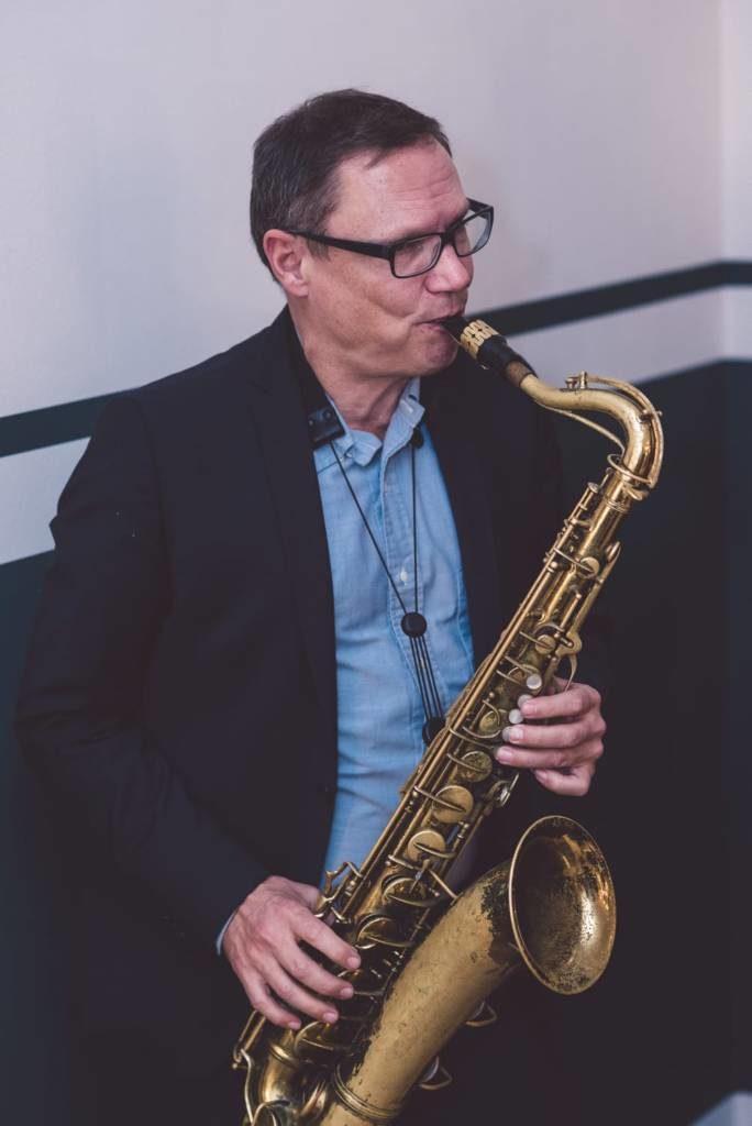 Saxophonist bei einem Event in Berlin